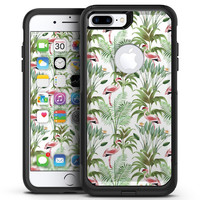 The Tropical Flamingo Jungle Scene - iPhone 7 or 7 Plus Commuter Case Skin Kit