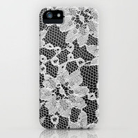 black and white laced iPhone Case by kenzienphotography | Society6