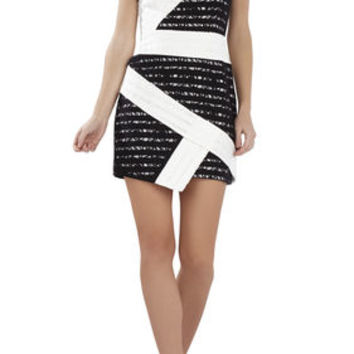 Dalia Sleeveless Asymmetrical Skirt Dress - White