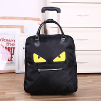 New Trolley Bag Commercial Travel fashion Luggage Bags Carry-on PU Leather  20inch 36L-55L Rolling Duffle Bags Waterproof