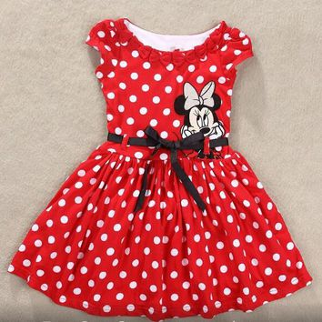 Girls Minnie Mouse Polka dots Dress