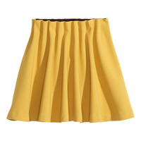 H&M - Flared Skirt - Mustard yellow - Ladies