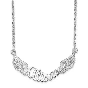 Personalized Angel Wings Name Necklace