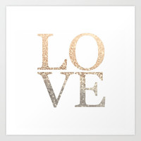 GOLD LOVE Art Print by Monika Strigel
