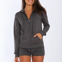Womens French Terry Zip Up Hoodie