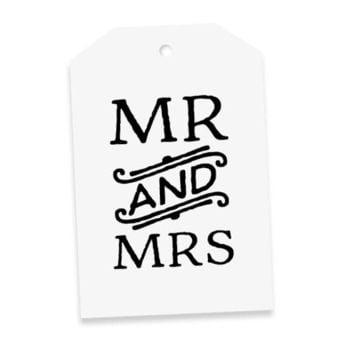 Elm Paper | Mr and Mrs Gift Tag
