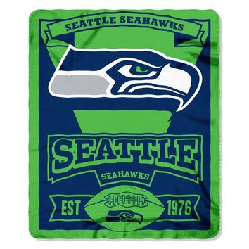 NFL 031 Seahawks Marque Fleece Throw | Overstock.com Shopping - The Best Deals on Blankets