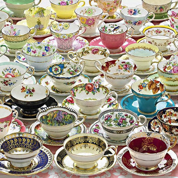 More Tea Cups 1000 Piece Jigsaw Puzzle