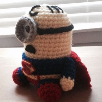 Superman Minion PDF Pattern Crochet for Amigurumi Doll Plush