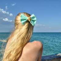 Tiffany Blue Hair Bow