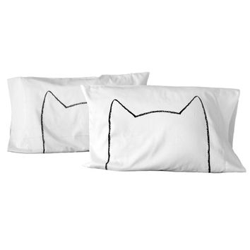 Cat Nap Pillowcases - Set of 2