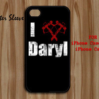 i love daryl the walking dead - Rubber or Plastic Print Custom - iPhone 4/4s, 5/5c - Samsung S3 i9300, S4 i9500 - iPod 4, 5