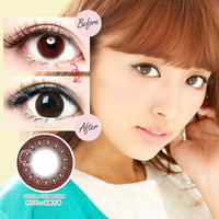 LUCIA 1-Day UV Veil Brown Contact Lenses (30 Pcs)