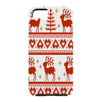 Natt Knitting Red Deer Cell Phone Case