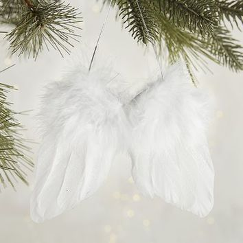 Feather Angel Wings Ornament