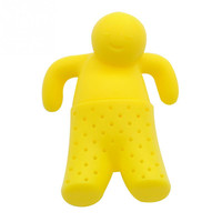 Unique Little Man Shape Cute Tea Strainer Silicone Tea Infuser Filter Teapot Teabags for Tea & Coffee Drinkware