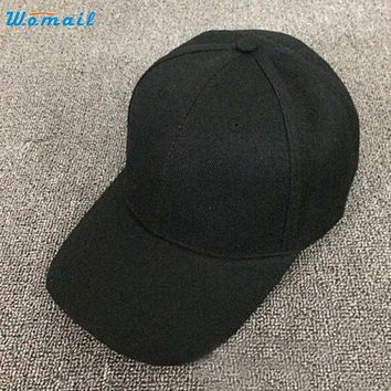Mar 11 Amazing Summer Women Solid Color Baseball Cap Snapback Hat New