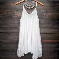 x shorphearts - Flower child flowy dress | ivory