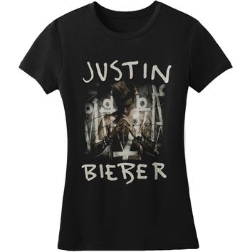 Justin Bieber  Purpose Junior Top Black