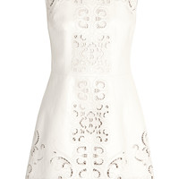 Dolce & Gabbana - Cutout leather mini dress