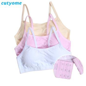 5pcs/lot Cutyome Puberty Young Girls Sport Bra Kids Padded Underwear Bras Teenage Wire Free Undergarment Children Undies Clothes