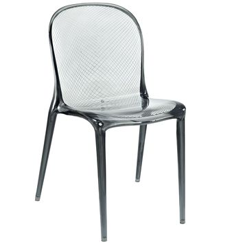 Scape Dining Chair, Clear Black