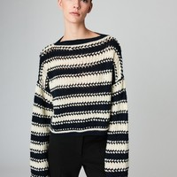 Striped Wool-Cashmere Pullover - Blouses & Knits - Ready-to-Wear