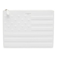 Givenchy White Flag Leather Pouch Wallet