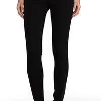 Bobi Legging with Leather Detail in Black