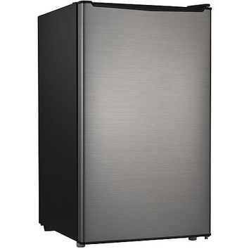 3.5 cu ft Hamilton Beach Single Door Compact Refrigerator, Stainless ('Scratch & Dent')