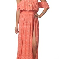 Rip Curl Saltwater Off the Shoulder Maxi Dress | Nordstrom