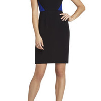BCBG Karin Color-Blocked Cutout Sheath