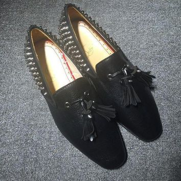 DCCK Cl Christian Louboutin Loafer Style #2333 Sneakers Fashion Shoes