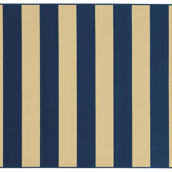Bonds Outdoor Rug, Navy, Area Rugs