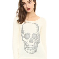 Ivory Skull Girls Sweater