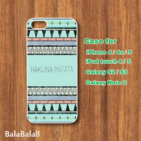 Aztec Hakuna Matata - iPhone  4 case, iphone 5 Case, iPod 4 case,  iPod 5 case,  Samsung Galaxy S3 / S2 case Galaxy note 2 case