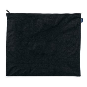 Large Flat Zip Pouch Black