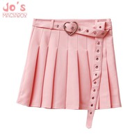2018 New Women Summer Special Skirts Heart Sashes Harajuku Cute Sweet Kawaii Skirts S-L 4 Colors Candy Colors Pleated Female