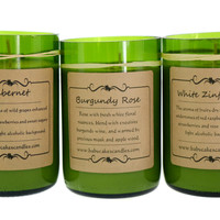 Handmade Recycled Wine Bottle Soy Candles