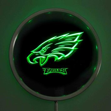 rs-0144 Philadelphia Eagles LED Neon Round Signs 25cm/ 10 Inch - Bar Sign with RGB Multi-Color Remote Wireless Control Function