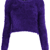 Knitted Fluffy Crop Jumper - New In This Week - New In - Topshop USA
