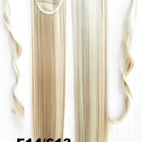 Velcro Wrap Ponytail Hair Extension,Ponytail with band,Ribbon Ponytail,Straight hair,Wig Hairpiece,synthetic hair wig,woman wigs,wig hairs,Bath & Beauty,Accessories BIP-666 F14/613