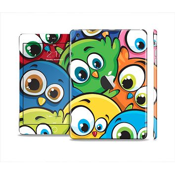 The Big-Eyed Highlighted Cartoon Birds Skin Set for the Apple iPad Mini 4