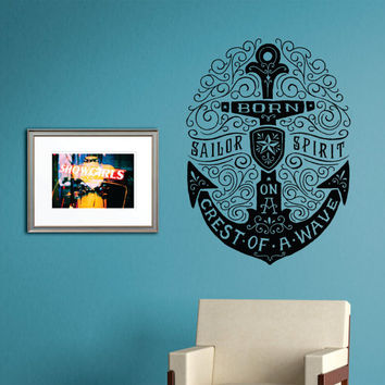 Anchor Born On A Crest Of A Wave Quote From Decals4yourwalls On