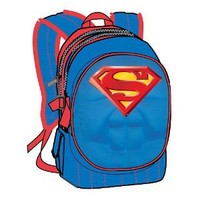 Superman 16 Inch Backpack with Padded Chest Plate by Fast Forward