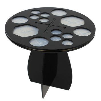 Acrylic Makeup Foundation Cosmetic Tree Dry Brushes Rack Holder Stand Hang Tools