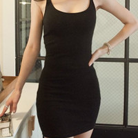 Casual Spaghetti Strap Mini Dress