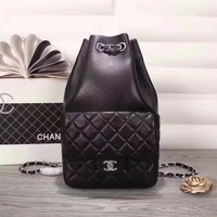 CHANEL WOMEN'S NEW STYLE LEATHER VINTAGE BACKPACK BAG