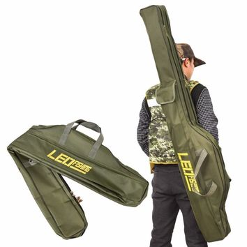 100cm/150cm Folding Fishing Rod Bags Fishing Bags 420D Zipped Case Fish Pole Tools Storage Bag Case Holder Gear Tackle Pesca