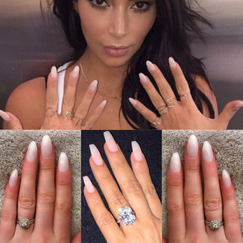 Natural Nails Kim Kardashian Style